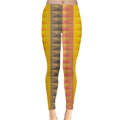 Abstract Pattern Background Plaid Leggings