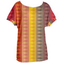 Abstract Pattern Background Plaid Women s Oversized Tee by Jojostore