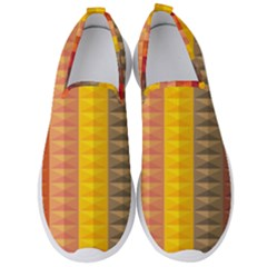 Abstract Pattern Background Plaid Men s Slip On Sneakers