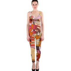 Abstract Line One Piece Catsuit