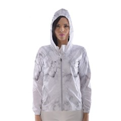 Background Abstract Watercolor White Hooded Windbreaker (women)
