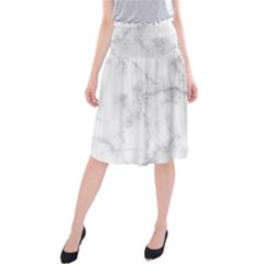 Background Abstract Watercolor White Midi Beach Skirt