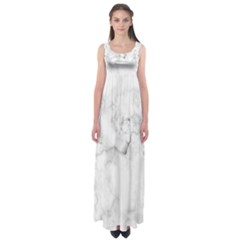 Background Abstract Watercolor White Empire Waist Maxi Dress