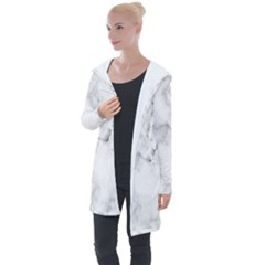 Background Abstract Watercolor White Longline Hooded Cardigan by Jojostore