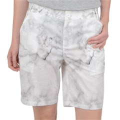 Background Abstract Watercolor White Pocket Shorts by Jojostore
