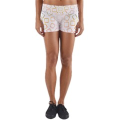 Abstract Geometric Squares Radial Yoga Shorts