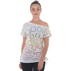 Abstract Geometric Squares Radial Tie Up Tee by Jojostore