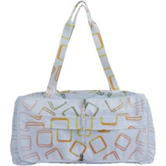 Abstract Geometric Squares Radial Multi Function Bag