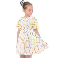 Abstract Geometric Squares Radial Kids  Sailor Dress by Jojostore