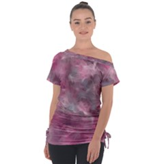 Background Abstract Tie Up Tee by Jojostore