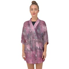 Background Abstract Half Sleeve Chiffon Kimono