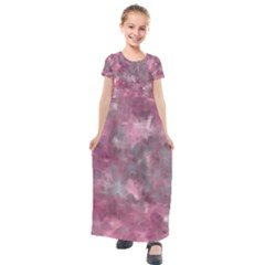 Background Abstract Kids  Short Sleeve Maxi Dress by Jojostore