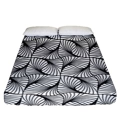 Abstract Seamless Pattern Spiral Fitted Sheet (queen Size)