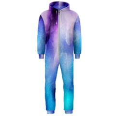 Background Abstract Watercolor Hooded Jumpsuit (men)  by Jojostore