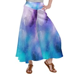Background Abstract Watercolor Satin Palazzo Pants by Jojostore