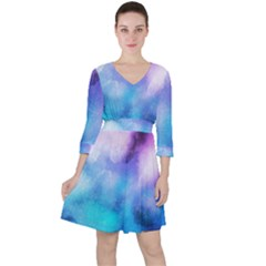 Background Abstract Watercolor Ruffle Dress by Jojostore