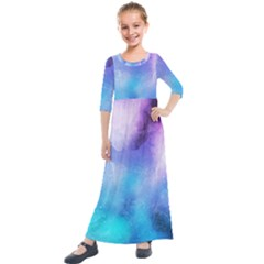 Background Abstract Watercolor Kids  Quarter Sleeve Maxi Dress by Jojostore