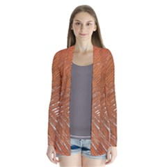 Abstract Lines Background Drape Collar Cardigan by Jojostore