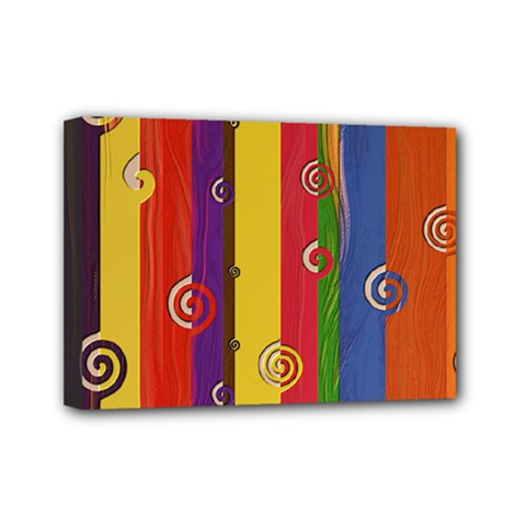 Abstract  Rainbow Mini Canvas 7  X 5  (stretched) by Jojostore