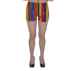 Abstract  Rainbow Skinny Shorts