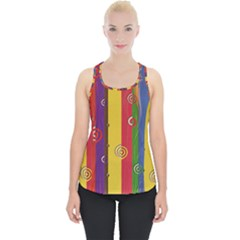 Abstract  Rainbow Piece Up Tank Top