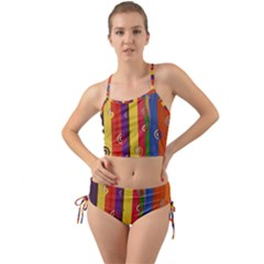 Abstract  Rainbow Mini Tank Bikini Set