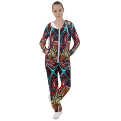 Abstract Art Stained Glass Women s Tracksuit
