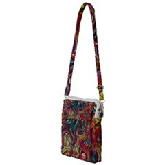 Abstract Art Stained Glass Multi Function Travel Bag