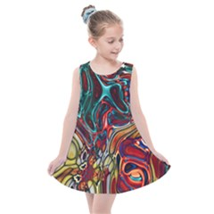 Abstract Art Stained Glass Kids  Summer Dress by Jojostore
