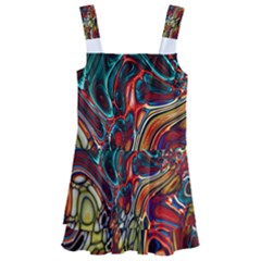 Abstract Art Stained Glass Kids  Layered Skirt Swimsuit