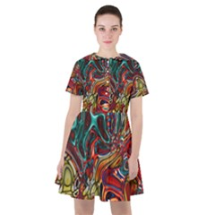 Abstract Art Stained Glass Sailor Dress