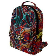 Abstract Art Stained Glass Flap Pocket Backpack (small)