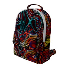 Abstract Art Stained Glass Flap Pocket Backpack (large)