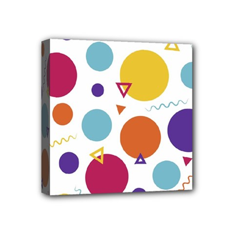 Background Polka Dot Mini Canvas 4  X 4  (stretched)