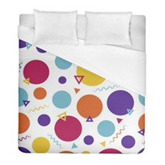 Background Polka Dot Duvet Cover (full/ Double Size)