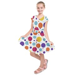 Background Polka Dot Kids  Short Sleeve Dress