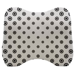 Circle Dot Pattern Dotted Velour Head Support Cushion