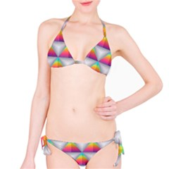 Colorful Triangle Classic Bikini Set by AnjaniArt