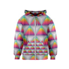 Colorful Triangle Kids  Zipper Hoodie by AnjaniArt