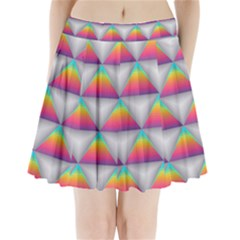 Colorful Triangle Pleated Mini Skirt by AnjaniArt