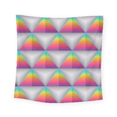 Colorful Triangle Square Tapestry (small) by AnjaniArt