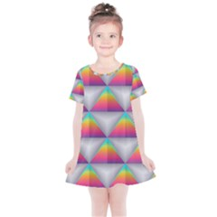Colorful Triangle Kids  Simple Cotton Dress by AnjaniArt