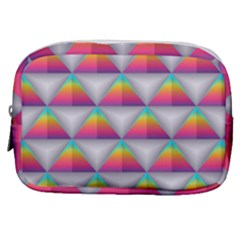 Colorful Triangle Make Up Pouch (small) by AnjaniArt