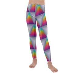 Colorful Triangle Kids  Lightweight Velour Leggings by AnjaniArt