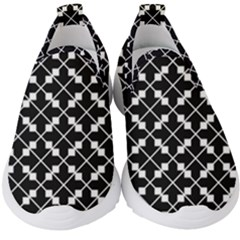 Black Background Arrow Kids  Slip On Sneakers by AnjaniArt