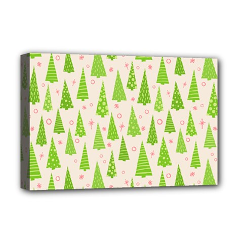 Christmas Green Tree Deluxe Canvas 18  X 12  (stretched)