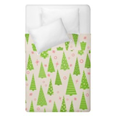 Christmas Green Tree Duvet Cover Double Side (single Size)