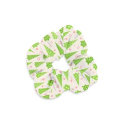 Christmas Green Tree Velvet Scrunchie