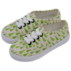 Christmas Green Tree Kids  Classic Low Top Sneakers by AnjaniArt