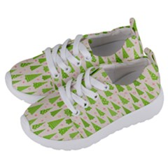 Christmas Green Tree Kids  Lightweight Sports Shoes by AnjaniArt